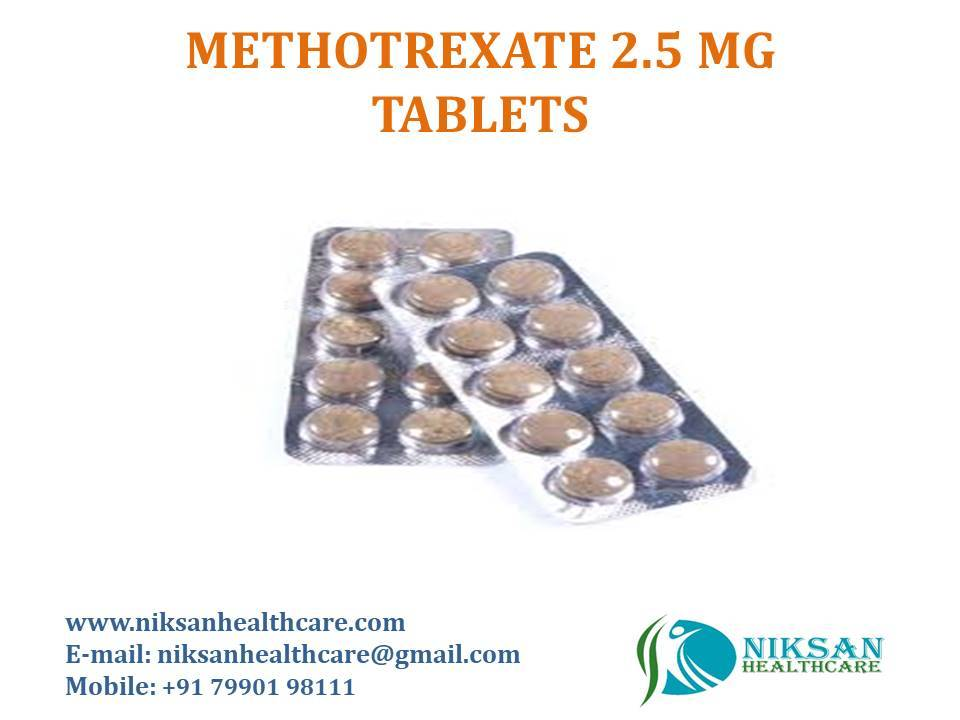 METHOTREXATE 2.5 MG TABLETS