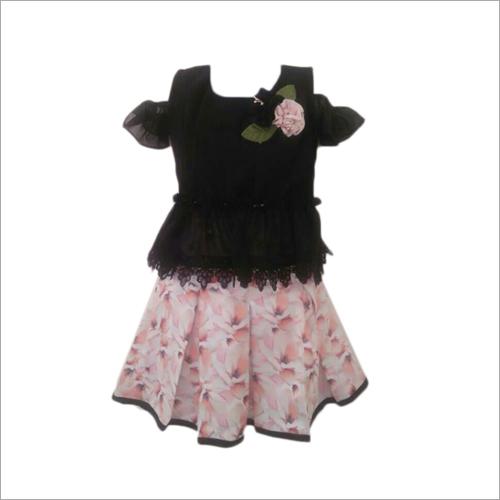 Kids Fancy Skirt With Off Shoulder Top