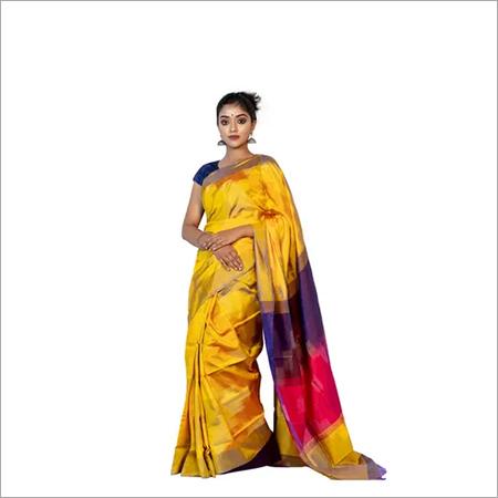 Ikkat Katan Pure Silk Saree