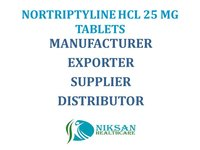 NORTRIPTYLINE HCL 25 MG TABLETS