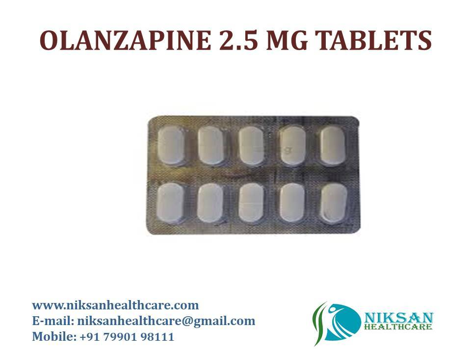 OLANZAPINE 2.5 MG TABLETS