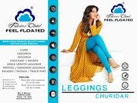 Bio Wash Lycra Churidaar Leggings - 4 Way Stretchable