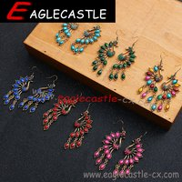 Party Accessories / Ladies Beautiful Earrings / Sliver Accessories / Fashion Jewelry /National Style Earrings / Retro Earrings / Garment Accessory