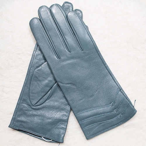 Luxury Quality Soft Lambskin Dressing Leather Gloves Cashmere or Wool Lined Winter, Ladies Womens Soft Fleece Lined Coloured Genuine Leather Bow Glove