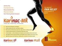 Kerwin Formulations Acceclofenac 100mg+paracetamol325mg(Karinac-MR)