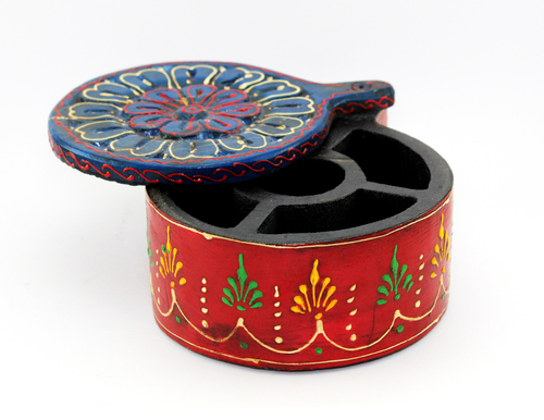 Wooden Handicraft Spice Box Small