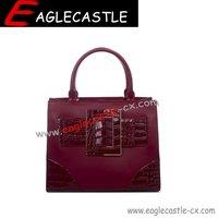 Fashion lady pu tote handbag daily handbag women bag  classics pu bag
