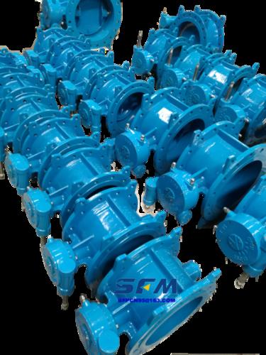 DIN Standard S14 dual eccentric butterfly valve