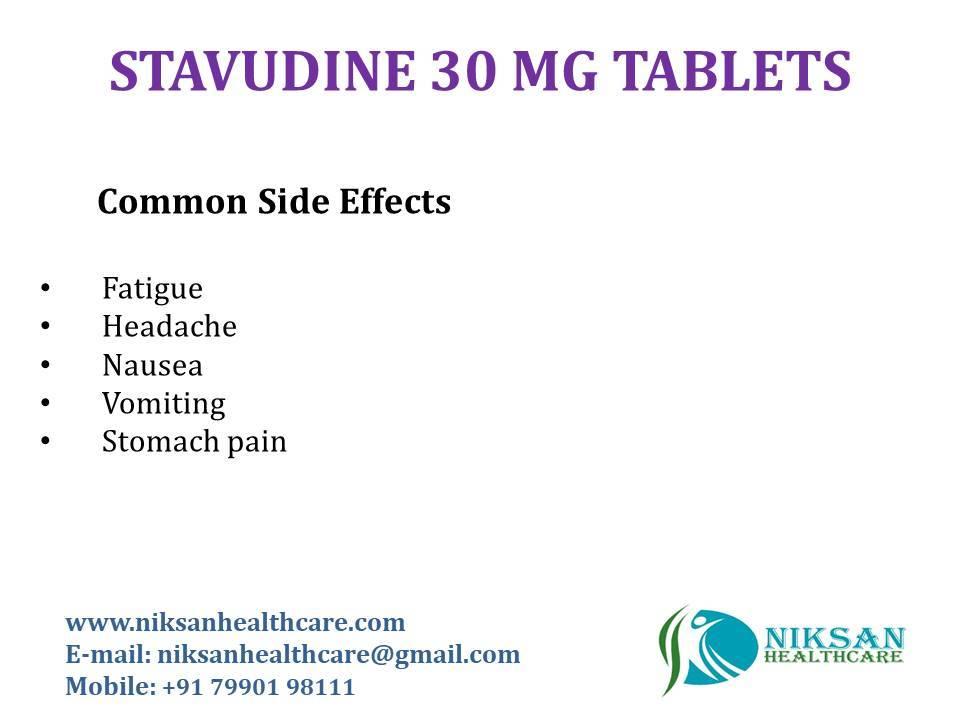 STAVUDINE 30 MG TABLETS