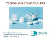 TACROLIMUS 0.5 MG TABLETS