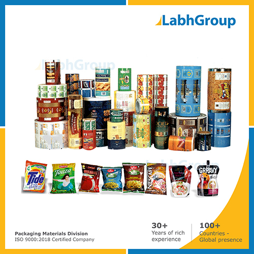 Printed Flexible Laminated Pouch Packaging Material