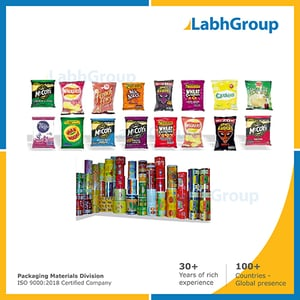 Printed Flexible Pouch Packing Material For Food Products