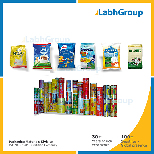 Printed Pouch Packaging Material For Milk Powder