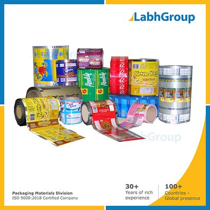 Printed Extrusion Laminates Pouch Packaging Material
