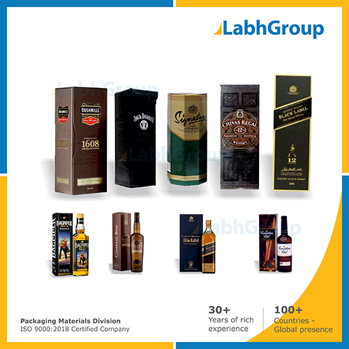 Printed Folding Carton Box For Alcoholic Drinks Packaging