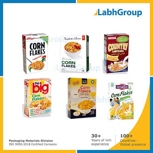 Printed Folding Carton Box For Corn Flakes Packaging