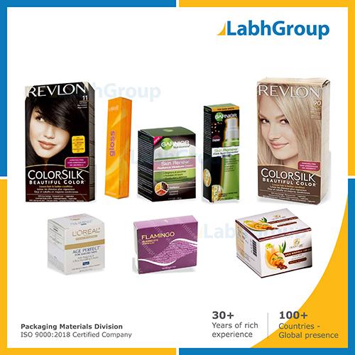 Printed Folding Carton Box For Cosmetics Packaging