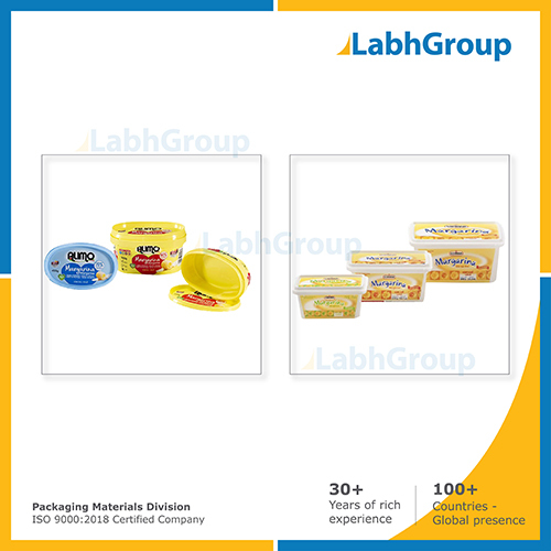 In Mould Labelling Iml Container For Margarine Packaging