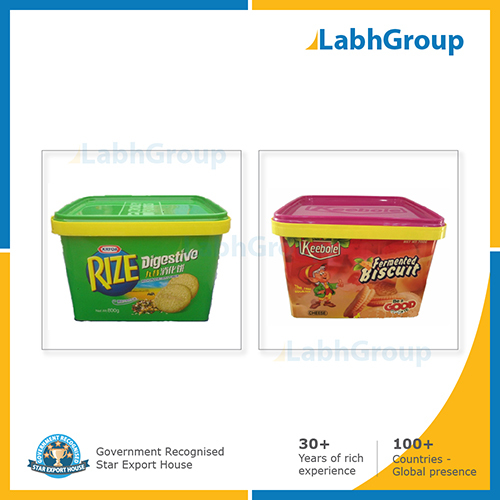 In Mould Label Iml Container For Cookies Biscuit