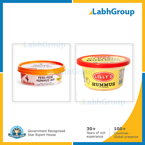 Plastic Iml Container For Hummus Dips And Spreads