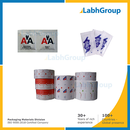 Printed Pe Coated Packing Paper For Salt Sachets