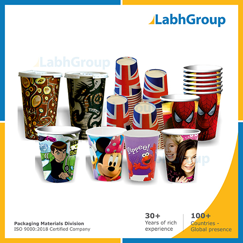 Printed Pe Coated Paper Cups For Cold Drinks