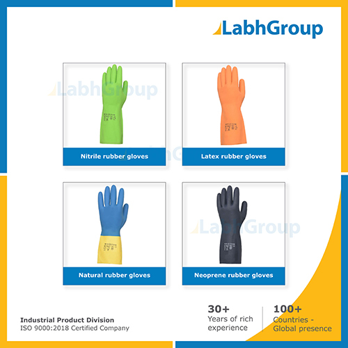 Hand Protection Rubber Gloves For Industrial Safety