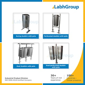 Stainless Steel Dustbin With Pole