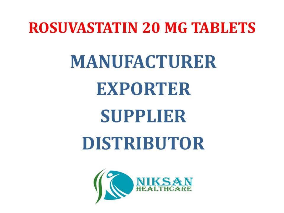 ROSUVASTATIN 20 MG TABLETS