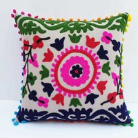 Embroidery Sujani Cushion Cover