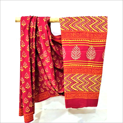 Printed Khadi Cotton Block Saree