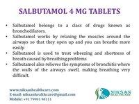 SALBUTAMOL 4 MG TABLETS