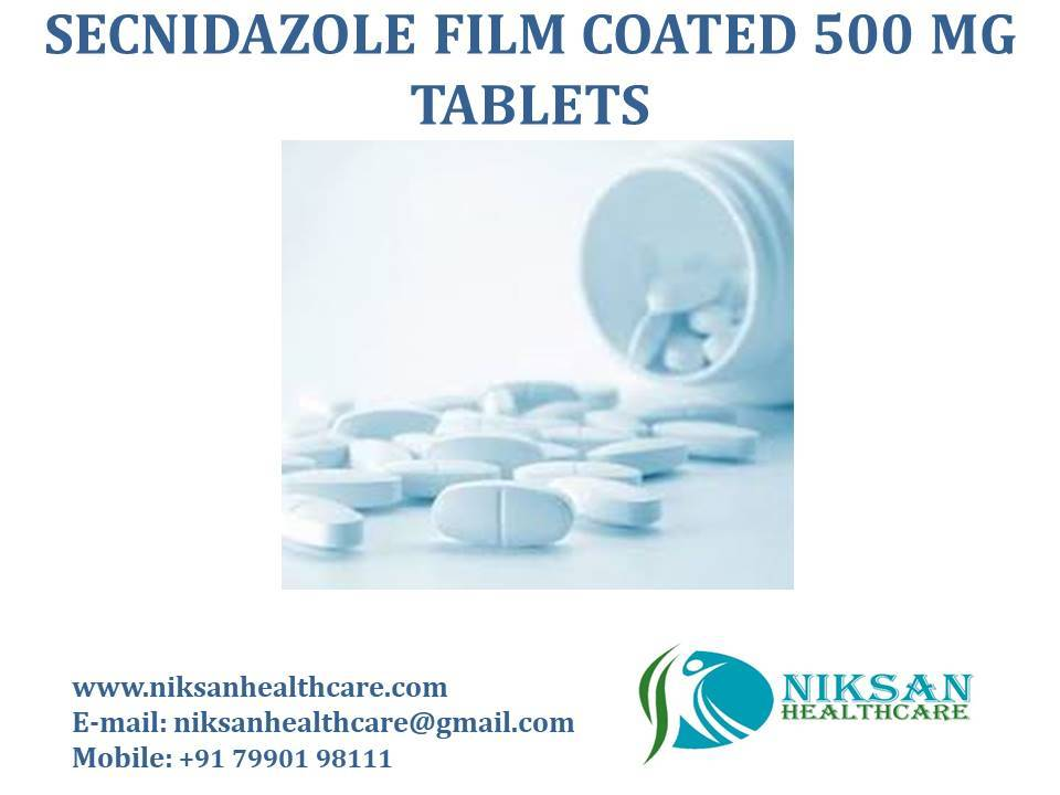 SECNIDAZOLE FILM COATED 500 MG TABLETS
