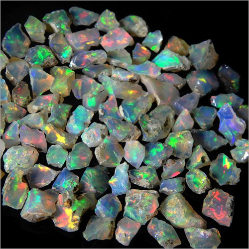 Natural Raw Ethiopian Fire Opal Rough Stone Semi Precious Gemstones