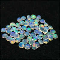 6mm Natural Ethiopian Opal Faceted Round Cut Loose Gemstones