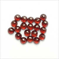 4mm Natural Garnet Rose Cut Round Cabochons Loose Gemstones