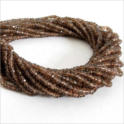 Natural Andalusite Brown Garnet Gemstone Faceted Rondelle Beads