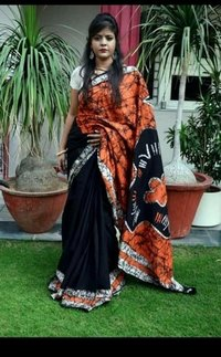 Cotton Silk Screen Print Saree