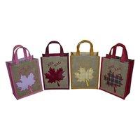 Jute Fabric Gift Bag With Jute Self Handle