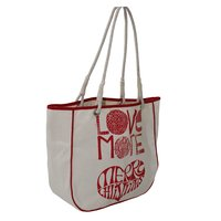 10 Oz Natural Canvas Tote Bag With Side & Top Piping & Cotton Cord Handle