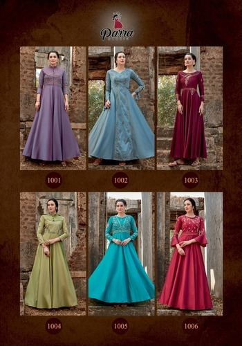 Ghoomer Vol-1 Silk Tapeta Gowns Set
