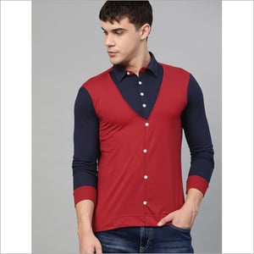 Mens Full Sleeves Plain Jacket