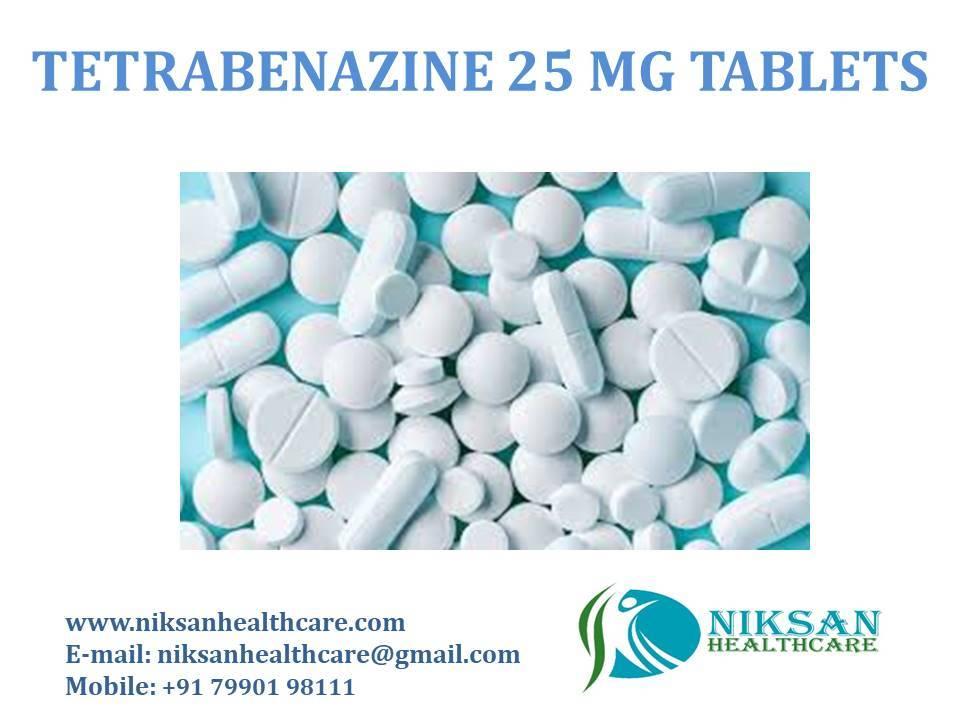 TETRABENAZINE 25 MG TABLETS