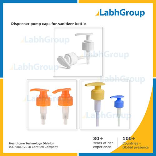 Dispenser Pump Caps for Sanitizer Bottle