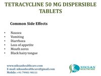 TETRACYCLINE 50 MG DISPERSIBLE TABLETS