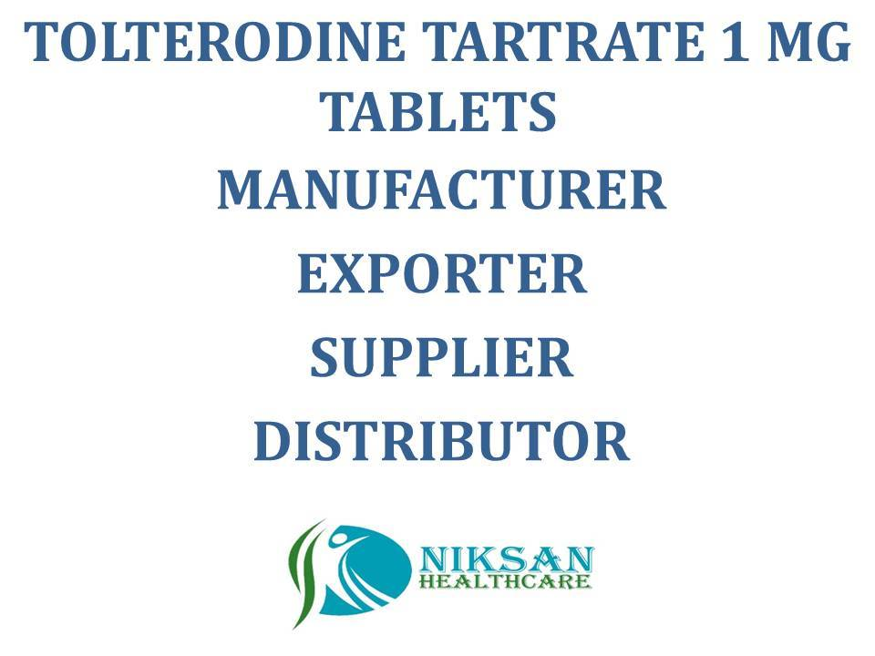 TOLTERODINE TARTRATE 1 MG TABLETS