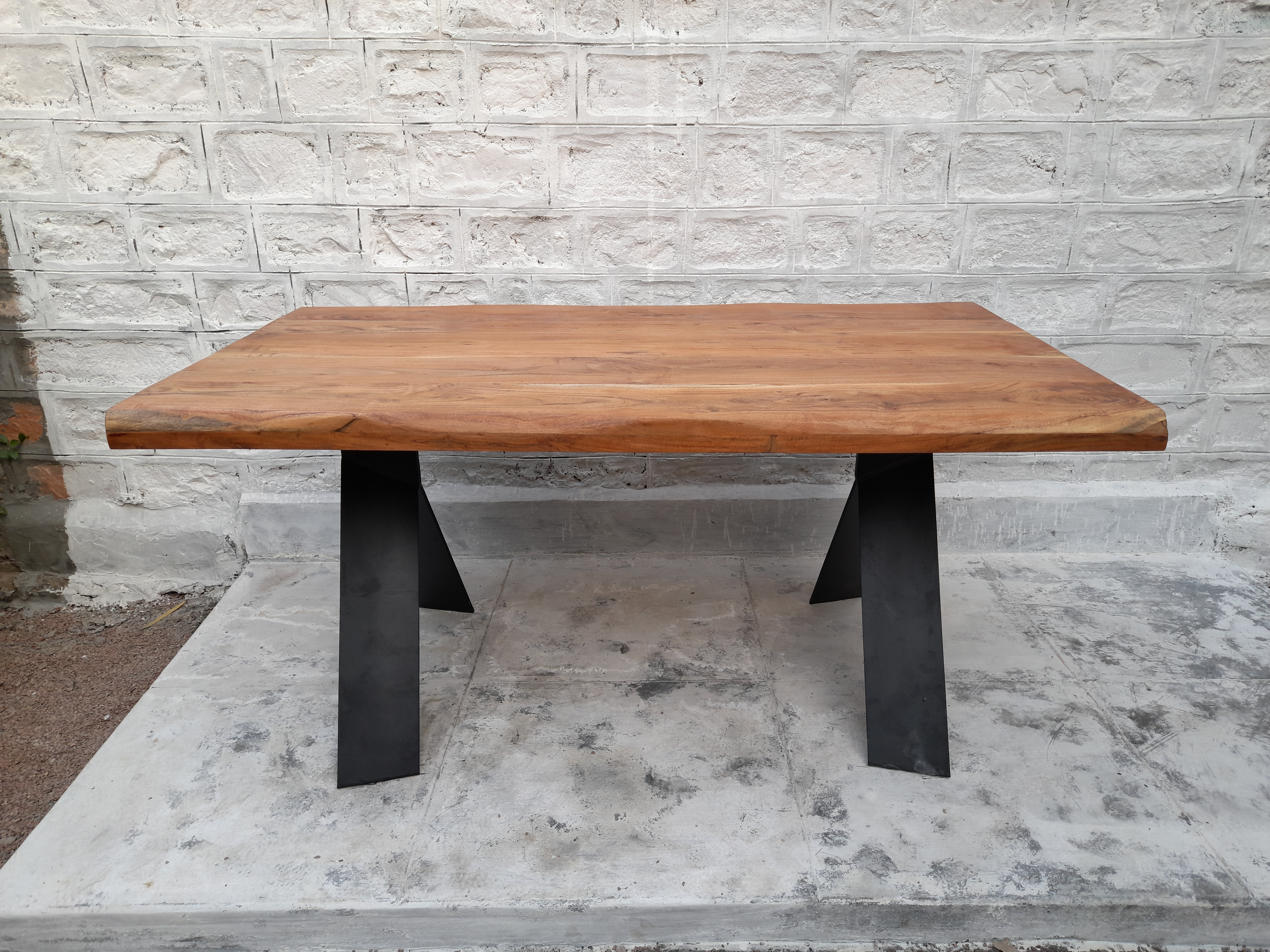 Iron and Wooden Dining table