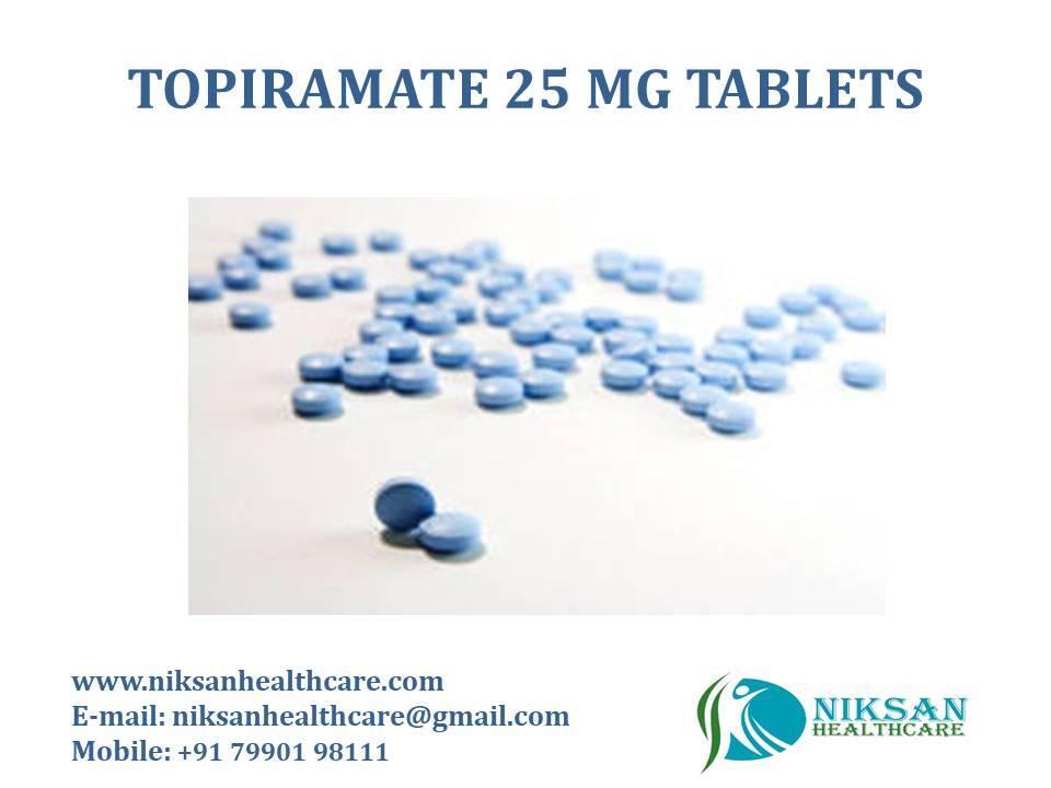 TOPIRAMATE 25 MG TABLETS