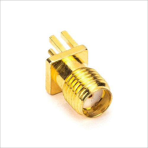 1.6 MM SMA PCB Edge Mountable  Female Connector