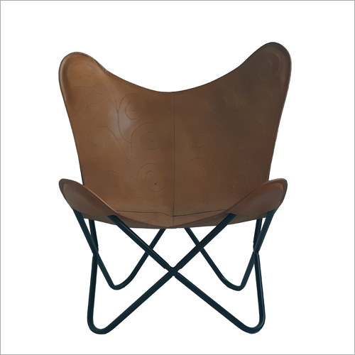 Leather Butterfly Folding Chair